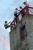 Highlight for Album: Rappelling at Englewood Fire Department 2005